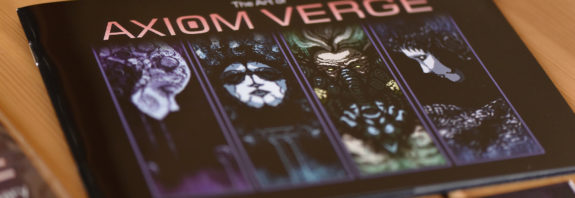 La couverture de l'Artbook d'Axiom Verge